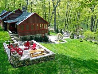 Extraordinary historic 1930s lakeside retreat 55 miles north of NY
