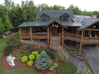 Moose Meadow Lodge & Treehouse - Adirondack style log cabin on 86 private acres