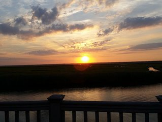 Waterfront House w/Dock & Sunsets - Facing LBI, Bay  and Wildlife/Bird Refuge