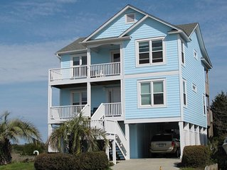 SECOND ROW W/ DEEDED BEACH ACCESS ; AWESOME OCEAN AND MARSH INLET VIEWS!