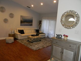 Beautiful Renovated Home with Pool + Hot Tub in Gated Community Near Beach
