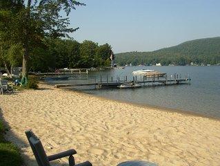 Winnipesaukee Lake Front- gorgeous private sandy beach & dock