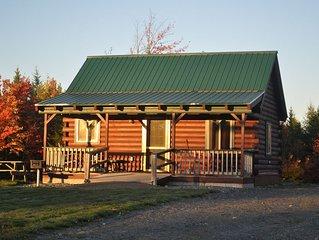 Modern cabin, large interior space, wheelchair ramp, sleeps 6.