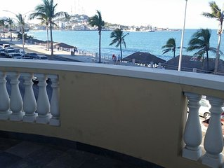 Beach front 2 master suites private condo with roof top Clubhouse and Lap Pool