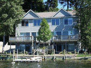 Large lake-front house in a beautiful little town. Lake views from every room!