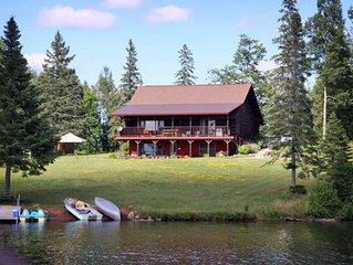 Upper Peninsula Michigan, Log cabin, family vacation lodging, swim, fish, atv