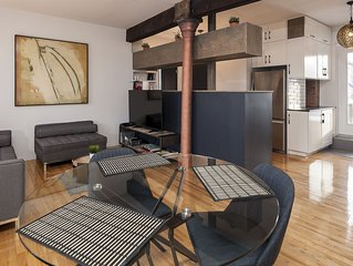Newly renovated loft + parking and big deck in the heart of Old MTL