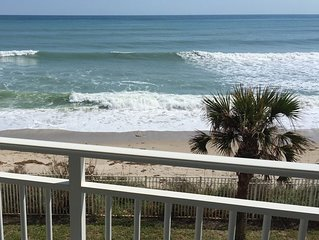 Ocean front, gorgeous sunrises and beach.  Beautiful beachside pool and deck