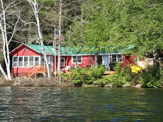 Sylvan Lodge  A secluded lake front family cabin in the Adirondack Mountains