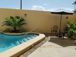 Cozy villa located 5 minutes from the airport and famous Pigeon Point beach.