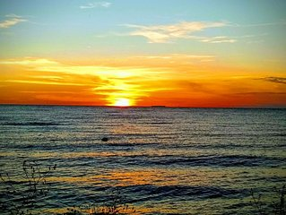 Steps from the water in Egg Harbor  with great views and incredible sunsets.