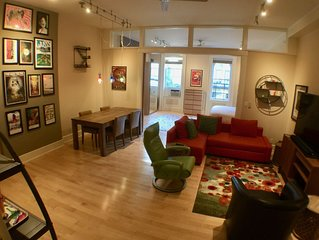1-bdrm in middle of OTR action; Just Renovated Fenced Parking on Premise; 65' TV