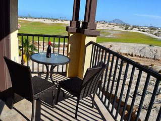 Two level rental villa with golf course and beach view
