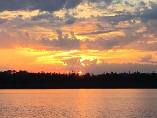 Brevort Lake waterfront in Michigan's Upper Peninsula Hiawatha National Forest