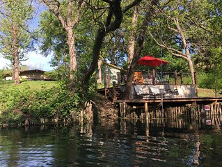 Private river house on the San Marcos River in the heart of San Marcos, Tx