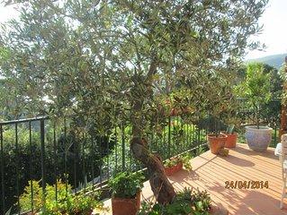Porto Santo Stefano: Piccolo appartamento in casa quadrifamiliare con terrazza e