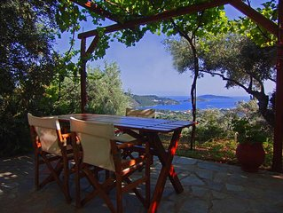 VILLAS ZOE SKIATHOS - TRADITIONAL VILLA, Newly Villas, spectacular sea views