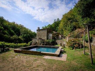 Antico mulino nel 'cuore verde' della Toscana