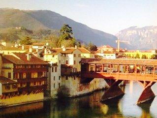 Casa signorile Palazzo Storico, vista monumento palladiano. Ponte vecchio