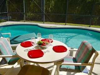 Superb 5 bed/3 bath, with heatable pool, close to all major Orlando attractions