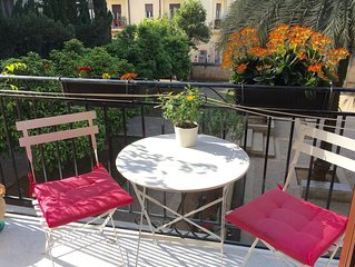 Cozy apartment with garden view, in the centre of Palermo