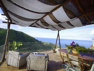 Caratteristica casa a Belmonte Calabro con Terrazo vista al mare