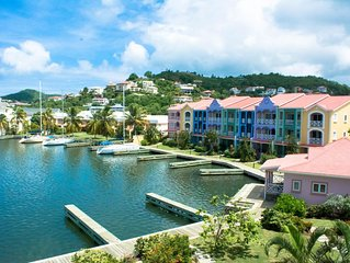 Water-Front Large 4-Bedroom, The Harbour, Rodney Bay