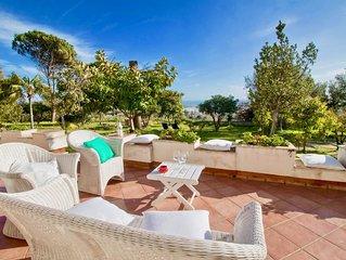 Il Giardino degli Aranci- Villa con vista mare