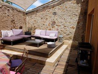 Grande maison de village confortable, proche Narbonne/Carcassonne