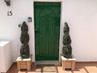 Behind this door lies a large stunning one bedroom apartment