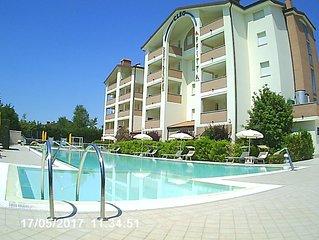 Appartamento accessibile, ideale per 6 persone, terrazzo con barbecue, wi-fi.