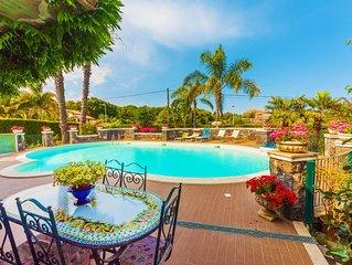 Bella e confortevole villa con piscina privata