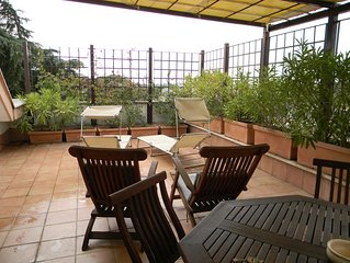 Gianicolo near Trastevere Vatican nice studio  well equipped with large terrace