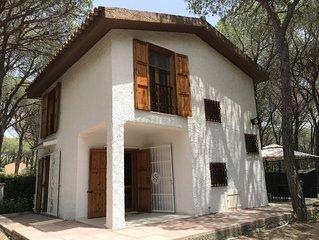 Villa indipendente a 150 metri dal mare. 500 mq di giardino immerso in pineta.