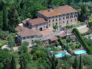 Rustico in Toscana con vasca idromassaggio e piscina panoramica con vista mare