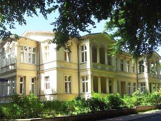 Wohnung in historischem Pensionshaus, 450 m zum Strand, WLAN inkl.