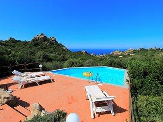 Villa Mela, privater Pool, Klima, Meerblick, im Naturparadies