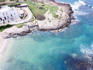 Frisch restaurierte Ferienwohnung mit diversen Extras, direkt am Strand, 5 P.