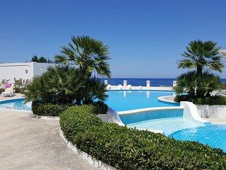 Wunderschone Dreizimmervilla direkt am Meer mit Blick auf Lipari  und Vulcano