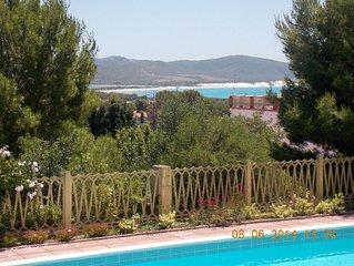 Ferienwohnung mit Pool, Traumausblick aufs Meer, weisse Dünen und Flamingos