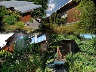 Natur-Urlaub direkt am Wald, Sauna, komfortabel eingerichtete Berghütte