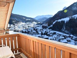 Genießen Sie vom Apartment aus, den atemberaubenden Blick auf die Dolomiten