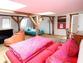 ⚡️Exclusives Loft | St.Georg | 140 qm in 4 Zimmer Altbau | Kostenloses WLAN⚡️