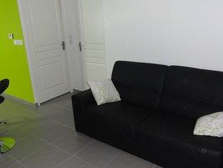 Appartement T2 40m² , terasse 10m²  5mn à pieds du centre ville et des plages