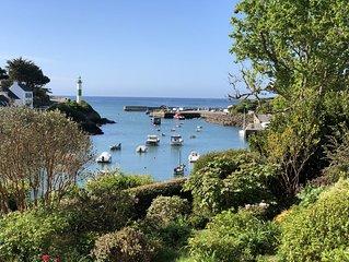 Maison 6 personnes - Port de Doëlan - Vue port et vue mer - CLOHARS-CARNOËT