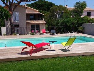 Haut de Villa de charme T4 90M² 9 couchages, Piscine ,mer à pied