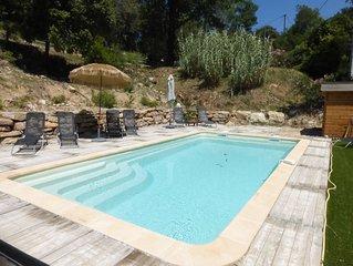 Promo :Villa 4* confort 9 pers., piscine privée  calme , Provence  800m villag