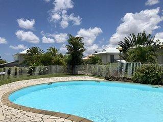 Vacances de rêve aux Trois Ilets, 130m2 - 3 chambres avec jardin + piscine