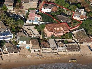 2 maisons face a la mer avec jardin, piscine, personnel et clim