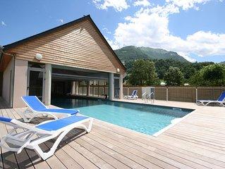 Appart. confort en residence avec piscine et vue montagne